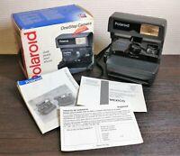 Vintage Sofortbildkamera Polaroid One Step United Kingdom Boxed mit Handbuch D