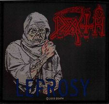 OFFICIAL LICENSED - DEATH - LEPROSY SEW ON PATCH DEATH METAL