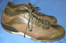 Women's Zumfoot Sneakers Casual Shoes Green Brown Leather Size 42M US 11 11.5