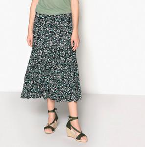 ANNE WEYBURN Floral Print Midi Skirt Size UK 10