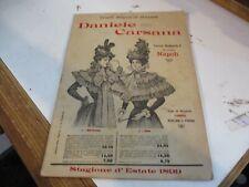 catalogo illustrato GRANDI MAGAZZINI MILANESI DANIELE CARSANA NAPOLI 1899
