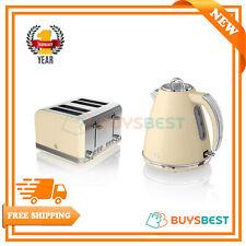 Swan Retro 1.5 Litre Jug Kettle & 4 Slice Toaster In Cream