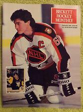 Beckett Hockey Price Guide - February 1991 - Mario Lemieux, Joe Sakic