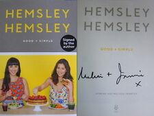Signed Book Good + Simple Jasmine & Melissa Hemsley 2016 Hardback 1st First Edn