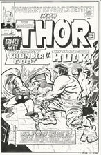 THOR vs HULK original Art Recreation Cover Comic Journey Mystery Marvel avenger