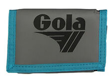 MENS / BOYS GOLA CLASSIC NYLON WALLET WITH ZIP COIN POCKET - GREY / BLACK / BLUE