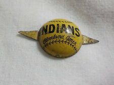 Vintage Baseball 1940's CLEVELAND INDIANS Old School Unique Pin Button RARE