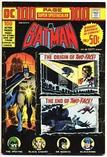 DC 100 PAGE SUPER SPECTACULAR #20 F, Batman, Giant, DC Comics 1973