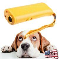 Ultrasound Dog Training Repeller Stop Barking Device Anti Bark Trainer Tool US