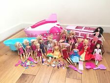 Bambola Barbie Bundle PARTY nave da crociera, Camper Van, 14 Bambole, Accessori ***