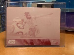 Star Wars Topps Printing Plate Magenta JTTFA 1/1 Rey BB-8