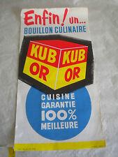 Ephemera Vintage advertising shop poster banner Kub OR Gold stock cubes 1950s