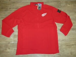 Adidas Detroit Red Wings Game Mode 1/2 Zip Tech Jacket Men's Large - MSRP $80
