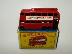 Lesney Matchbox No 56 London Trolley Bus Drink Peardrax BPW VNMIB D Box