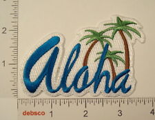 ALOHA Hawaii PALM TREES State Travel Souvenir Embroidered PATCH