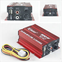 Portable Car Motorcycle Hi-Fi 500W 2Channel Stereo Audio Amplifier Amp Subwoofer