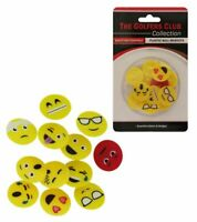 Golfers Club 12 Emoji Face Plastic Golf Ball Markers