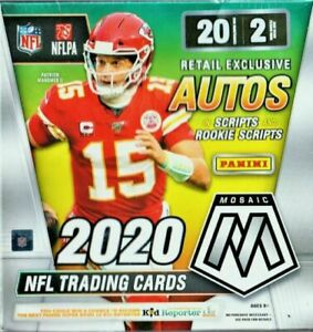 2020 Panini Mosaic Football NFL Mega Box Walmart Exclusive - Factory Sealed