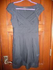 BCBG MAX AZRIA Navy Cotton Short Cap Sleeved Dress Size 2