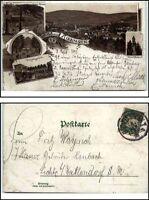 1895 Gruss aus BAD KISSINGEN Litho-AK ua. nach Lichte Wallendorf gelaufen