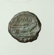 Republic Anonymous c.214-212 BC Sicilian mint, AE20mm uncia, 3,6g.Herakles Prow