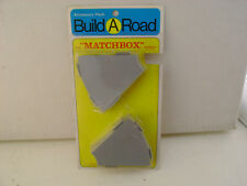 MATCHBOX LESNEY BUILD A ROAD ACCESSORY PACK BR-13 10 PIECES 45% CURVED TRACKS