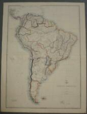 SOUTH AMERICA 1863 ETTLING & DISPATCH ATLAS LARGE TWO SHEETS ANTIQUE MAP