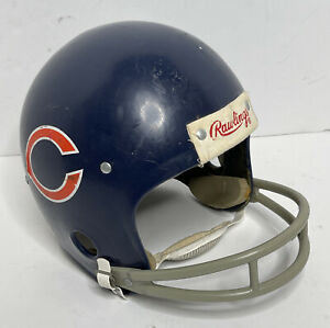 Vintage Rawlings Chicago Bears HNFL-N Large U.S.A.1986 Chin Strap 2 BAR