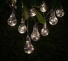 Warm Glow Solar Light Bulb String Lights 10pk-Includes solar powered battery,