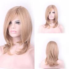 Damen Perücke Mittel Lang Blond Gewellt Perücke braunen Perücken Wig Neu Trends