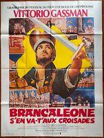 Plakat Brancaleone S'En VA T' Aux Kreuzritter Mario Monicelli Gassman 120x160cm