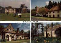 Great Britain Multi-View Postcard Milton Abbas Dorset in England Postkarte color