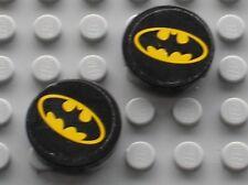 2 x LEGO BATMAN Black Tile ref 4150 + Stickers