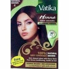 Dabur Vatika Natural brownHair Colour Powder | NO AMMONIA 60g (6x 10g)sale £4.99