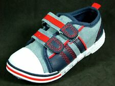 BOYS CANVAS PUMPS SIZES 4 - 5 UK (EU 23 -28) BABY KIDS ELITE TRAINERS SHOES