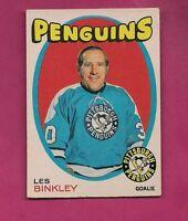 1971-72 OPC # 192 PENGUINS LES BINKLEY  GOALIE EX-MT CARD (INV# A1835)