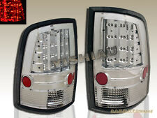 09 10 11 12 13 14 15 DODGE RAM 1500 2500 3500 PICKUP CHROME LED TAIL LIGHTS NEW