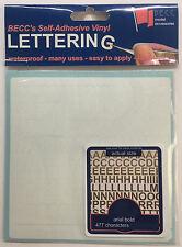 BECC Vinyl Lettering in White, Choice of Available Sizes Exterior Grade Vinyl