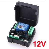 DC 12V relay 433MHz wireless RF Remote Control Switch Transmitter + Receiver