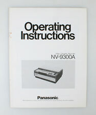 PANASONIC CASSETTE RECORDER NV-9300A MANUAL