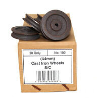 BOX OF 20 x CAST IRON PULLEY WHEELS MULTI-PURPOSE ROPE CLOTHES AIRER WHEEL