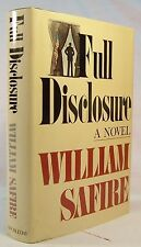 William Safire FULL DISCLOSURE First Edition Political Novel Inscribed & SIGNED