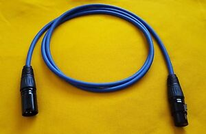 Mogami 2549 XLR-M to XLR-F 3 Pin Gold Contacts Balanced Audio Cable Blue 6 ft
