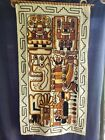 """Vintage Embroidered Tapestry Aztec Mayan Inca Peruvian Wall Art 21 1/2"""" By 41"""""""