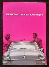 Vintage Rare Sales Brochure BMW 700 Coupe