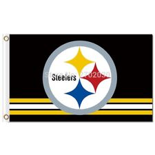New listing Pittsburgh Steelers Flag Banner Large New 3 X 5 Indoor Outdoor Nice Quality