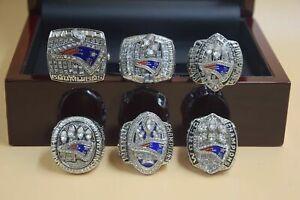 6 Pcs 2001 2003 2004 2014 2016 2018 New England Patriots Championship Ring ..