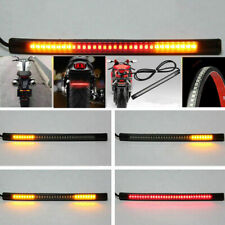 48 LED Motorcycle Flexible Turn Signal Amber Integrated 2 Strip Brake Tail Light