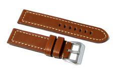 Cinturino orologio lux 4,2mm vero cuoio chiaro vintage 24mm pelle tipo panerai