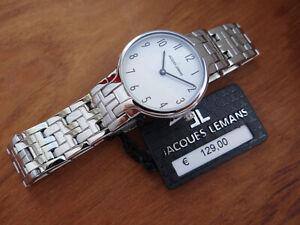 JACQUES LEMANS JL1-1934A Damen Armbanduhr in Stahl mit Box Papiere